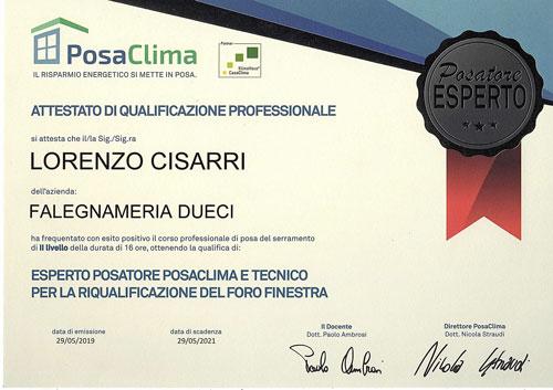 attestato-esperto-posatore-posaclima-Cisarri-Lorenzo