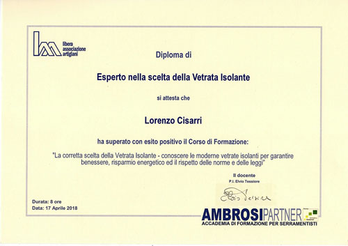 diploma-esperto-scelta-vetrata-isolante-Lorenzo