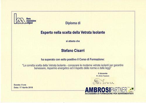 diploma-esperto-scelta-vetrata-isolante-Stefano